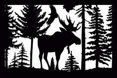 24 X 36 Moose Eagle Plasma Art Free DXF File