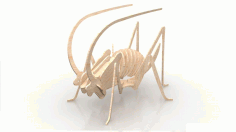 3d Cricket Insect 3mm Free DXF File
