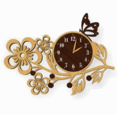 A Butterfly Perched On A Watch For Laser Cut Plasma Free DXF File