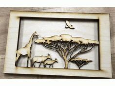African Tunnel Book Laser Cut Free DXF File