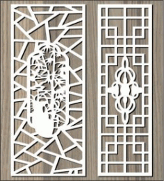 Ancient Pattern Behind The Garden For Laser Cut Cnc Free Vector File