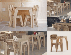Bar Tables Chairs Free DXF File