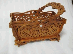 Basket With Handle Pattern For Laser Cutting Free DXF File