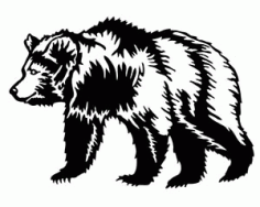 Bear Silhouette Animal Free DXF File