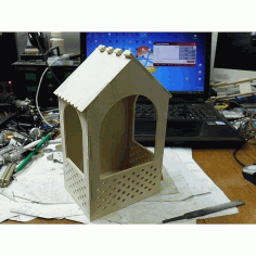 Bird Feeder 3d Puzzle Free DXF File