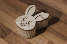 Box Rabbit Laser Cut 3d Puzzle Free DXF File