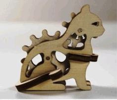 Cat Assembly Model For Laser Cut Cnc Free DXF File