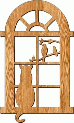 Cat Door Frame Partition For Laser Cut Plasma Free DXF File