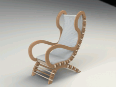 Chair 3 Fixed Clean Filat Free DXF File
