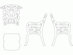 Chair 3d Puzzle Art Free DXF File