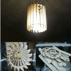 Chandelier Lamp Template Free DXF File