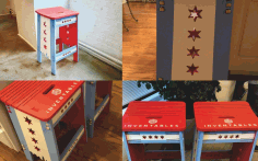 chicago-styled Stool Free DXF File