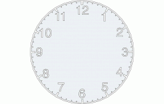 Clock Design Free DXF File