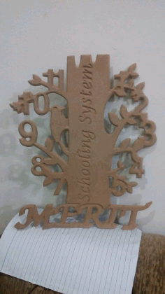 Clock Tree Design Laser Cut Free DXF File