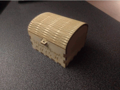 Cnc Laser Cut Plywood Wedding Ring Box Free DXF File
