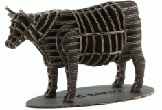 Cow 3d Puzzle Free DXF File