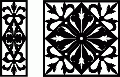 Decorative Screen Patterns For Laser Cutting 10 Free DXF File