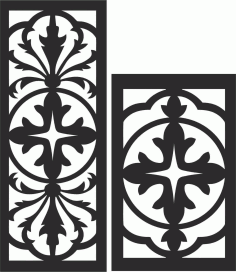 Decorative Screen Patterns For Laser Cutting 122 Free DXF File