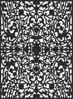 Decorative Screen Patterns For Laser Cutting 124 Free DXF File