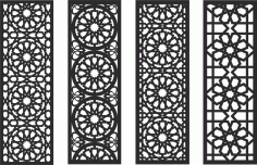 Decorative Screen Patterns For Laser Cutting 128 Free DXF File