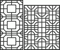 Decorative Screen Patterns For Laser Cutting 170 Free DXF File