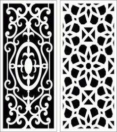 Design Pattern Panel Screen 6057 For Laser Cut Cnc Free DXF File