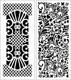 Design Pattern Panel Screen 6116 For Laser Cut Cnc Free DXF File