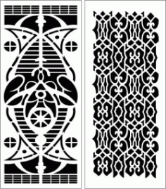 Design Pattern Panel Screen 6160 For Laser Cut Cnc Free DXF File