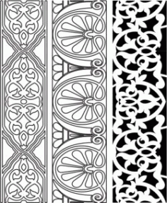 Design Pattern Woodcarving 6152 For Laser Cut Cnc Free DXF File