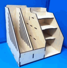 Desk Organizer For Laser Cut Cnc Free DXF File