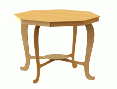 Dining Table (2) Free DXF File