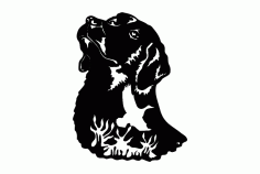Dog Bird Silhouette Free DXF File