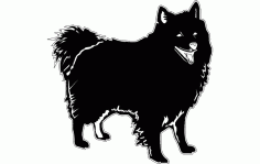 Dog Silhouette Free DXF File