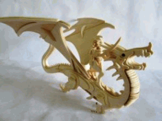Dragon Assembly Model For Laser Cut Cnc Free DXF File
