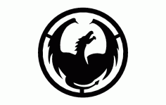 Dragon Circle Free DXF File