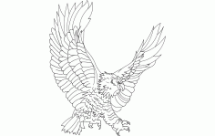 Eagle Attack Free DXF File