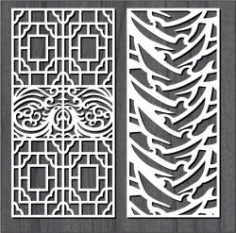 Eastern Design Features For Laser Cut Cnc Free DXF File