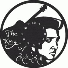Elvis Wall Clock Free DXF File