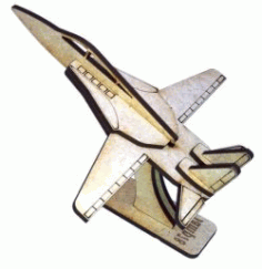 f14 Aircraft Assembly Model For Laser Cut Cnc Free DXF File