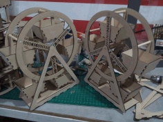 Ferris Wheel Pair Laser Cut 3d Puzzle Free DXF File