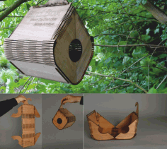 Flexible Plywood Birdhouse Free DXF File