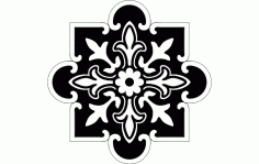 Floral Pattern Decorative Free DXF File