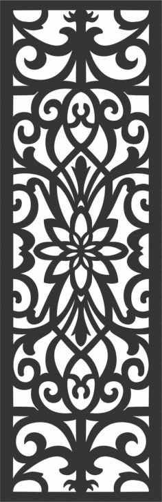 Floral Screen Patterns Design 10 Free DXF File