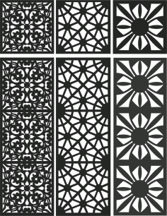 Floral Screen Patterns Design 106 Free DXF File