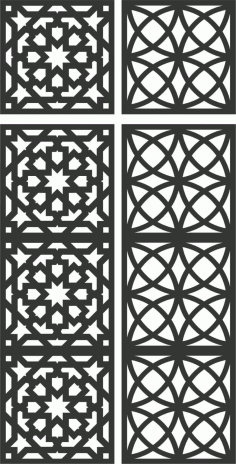 Floral Screen Patterns Design 116 Free DXF File