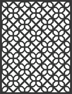 Floral Screen Patterns Design 22 Free DXF File