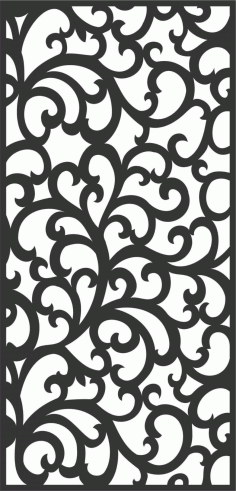 Floral Screen Patterns Design 55 Free DXF File