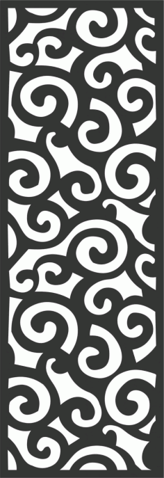 Floral Screen Patterns Design 56 Free DXF File
