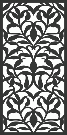 Floral Screen Patterns Design 59 Free DXF File