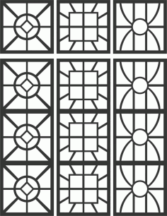 Floral Screen Patterns Design 95 Free DXF File